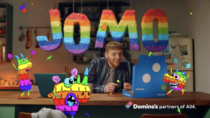 Domino's Vibrant New All4 Idents Bring Joy to Those Who Have Been Missing Out