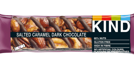 Kind Launches Salted Caramel Dark Chocolate Bar