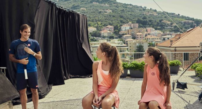 Roger Federer surprises two special fans with a tennis game on a rooftop in new Global Barilla campaign