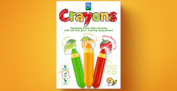 Crayons – Kid's Fruit Juice – With Branding and Packaging by Simon Pendry Creative