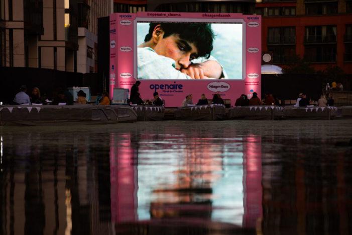Häagen-Dazs headlines UK's first float-in cinema following Paris success