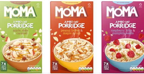 MOMA Launches Three New, No Added Sugar, Porridge Flavours