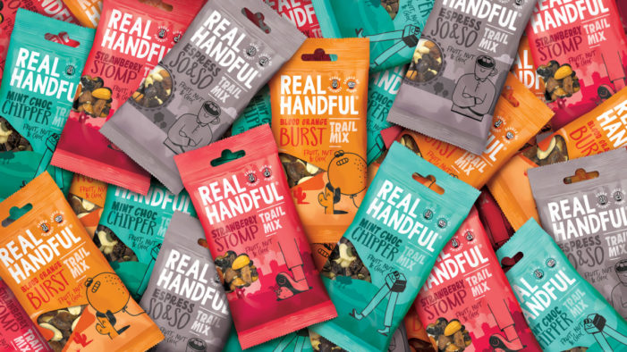 Brandon refreshes Real Handful packaging to help shoppers discover the benefits of trail mix
