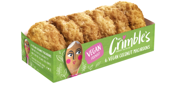 Mrs Crimble's Extends Vegan Range With New Vegan Coconut Macaroons