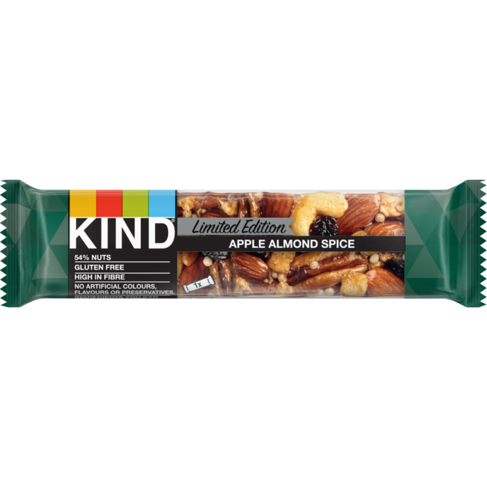 Kind Launches First Seasonal Limited Edition Bar – APPLE ALMOND SPICE –