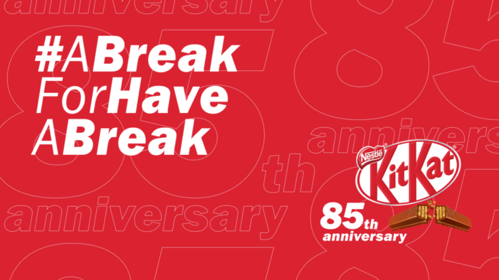 "KITKAT's famous slogan ""Have a break, have a KITKAT"" finally gets a well-deserved 10 days break to celebrate the brand's 85th birthday in new campaign"