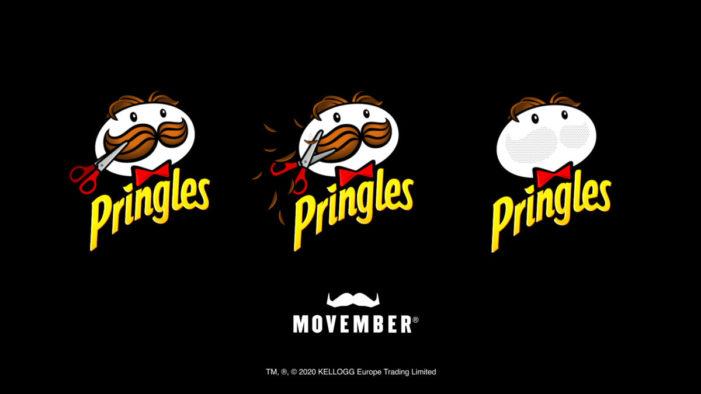 Pringles celebrates new Movember partnership by unveiling 'moustacheless' Mr. P logo