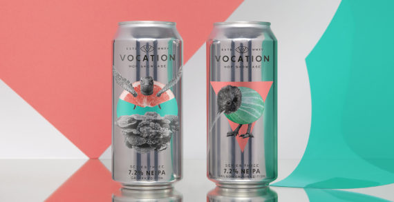 Robot Food get artistic with designs for Vocation Brewery's Hop Showcase series