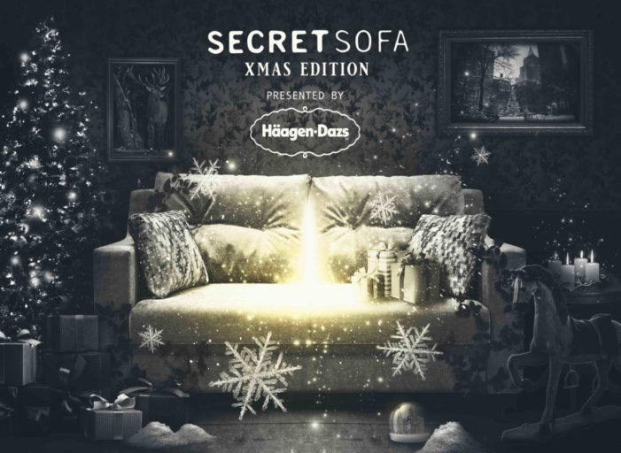 Häagen-Dazs and Secret Cinema come together again for Secret Sofa Xmas Edition to spread joy and help people who are homeless