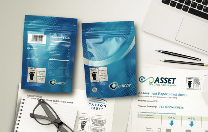 Amcor to help brands communicate packaging carbon footprint reductions through independent labelling from the Carbon Trust