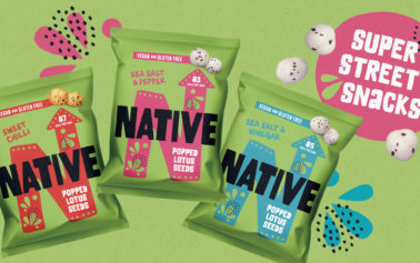 F&f launch their latest rebrand for Native Snacks – the plant-based brand that's bringing delicious and good-for-you Super Street Snacks