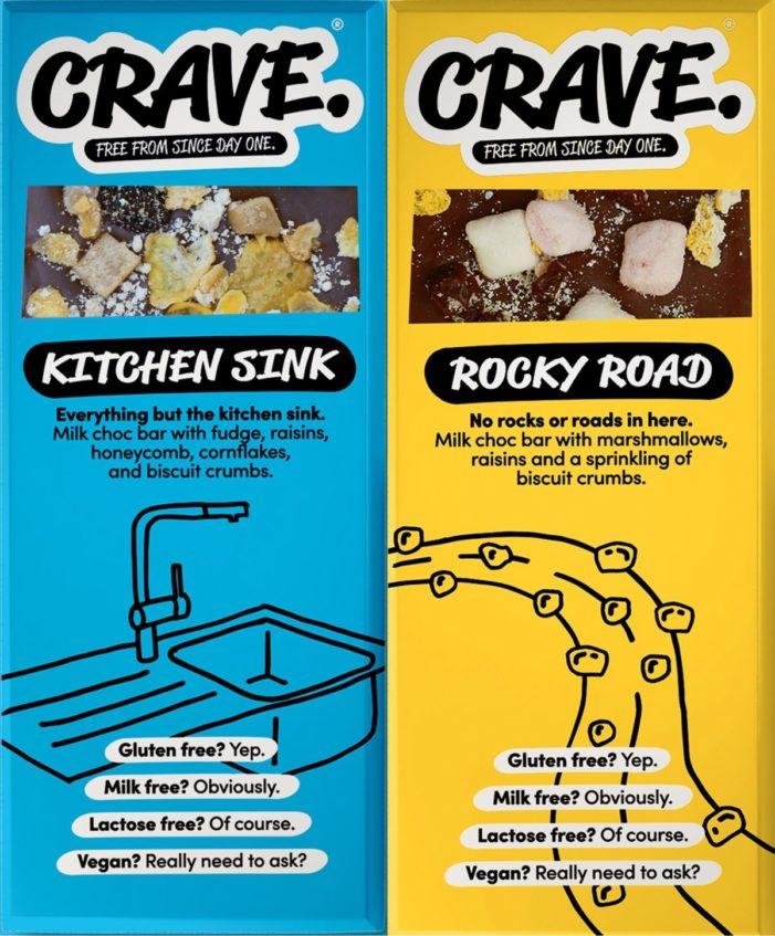 Startup CRAVE launches rice milk vegan chocolate range
