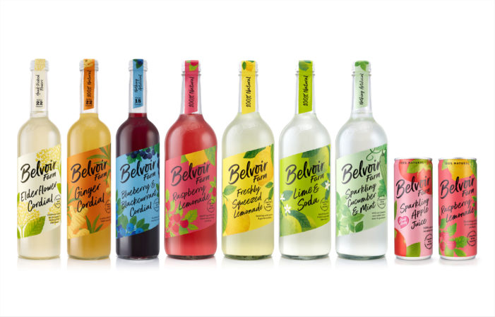 B&B studio reinvigorates premium soft drinks brand Belvoir Farm with renewed positioning and design direction