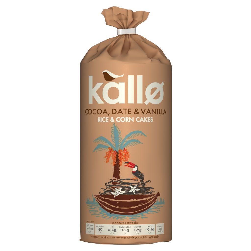 KALLØ COCOA, DATE & VANILLA RICE & CORN CAKES