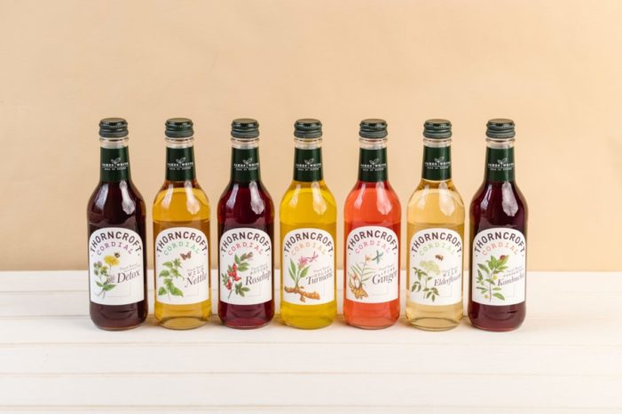 James White re-launches a reduced sugar Thorncroft cordial range together with a new Turmeric cordial.