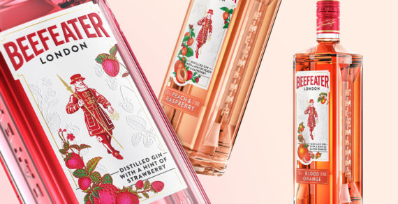 Beefeater and Boundless Brand Design relaunch standout flavoured gins as part of a striking new rebrand for the Beefeater Masterbrand