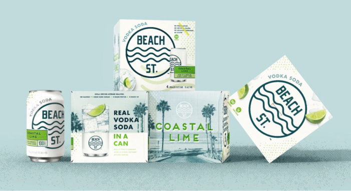 New Beach St. Vodka Cocktail Evokes the Sand, Sea and Sky