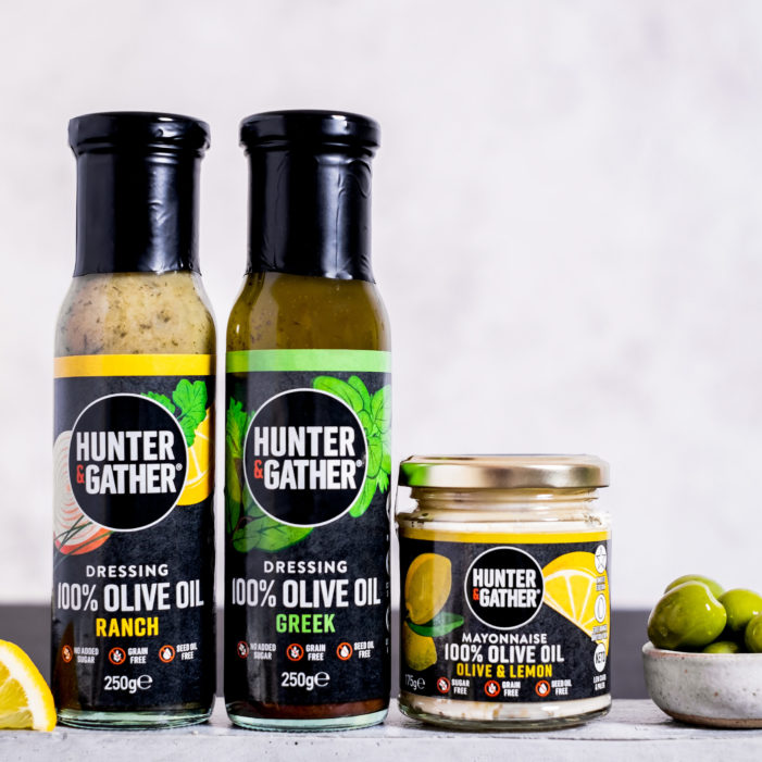 Hunter & Gather expands 'clean condiments' range with the launch of the UK's first 'clean keto' dressings following a year of explosive growth