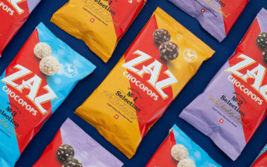 Slice Design creates branding and packaging for new Zaz Chocopops