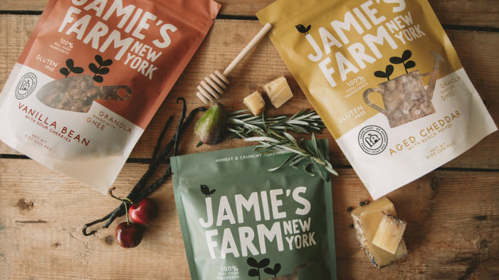 Pearlfisher's redesign brings a unique offer to the table for gourmet granola brand, Jamie's Farm New York