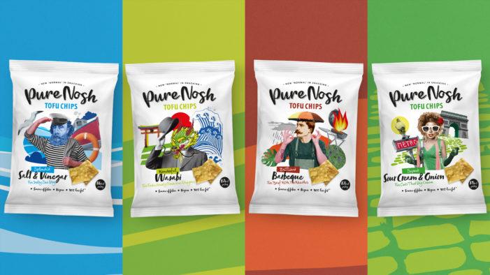 Slice Design creates branding and packaging for new vegan tofu chips