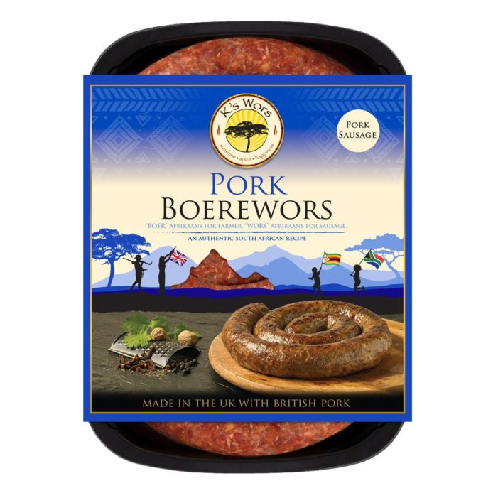K's Wors Launches Pork-based Boerewors that Marries Authentic Southern African Seasonings With Traditional British Banger Leanings