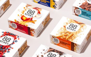 ROOK/NYC's new packaging design for 88 Acres is packed with taste appeal