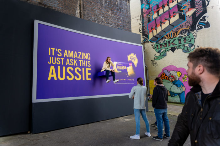 Cadbury Sticks A Real Life Aussie To Billboards In London, Manchester And Birmingham